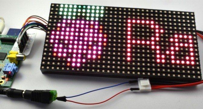 Raspberry Pi Colorful LED Screen